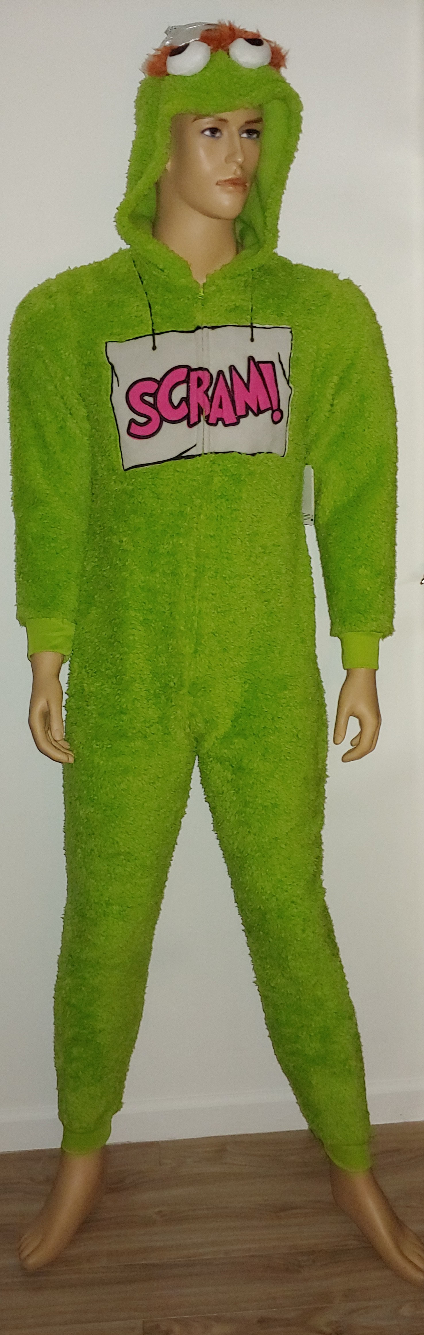 Unisex Onsie Pub Crawl Green Sesame Street Oscar The Grouch Pajamas Costume